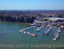 Drone video of Quay Lane Boatyard, Portsmouth Harbour